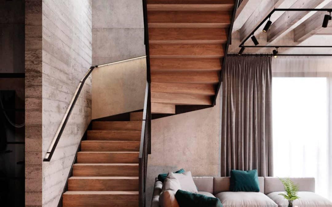 как использовать пространство под лестницей в гостиной